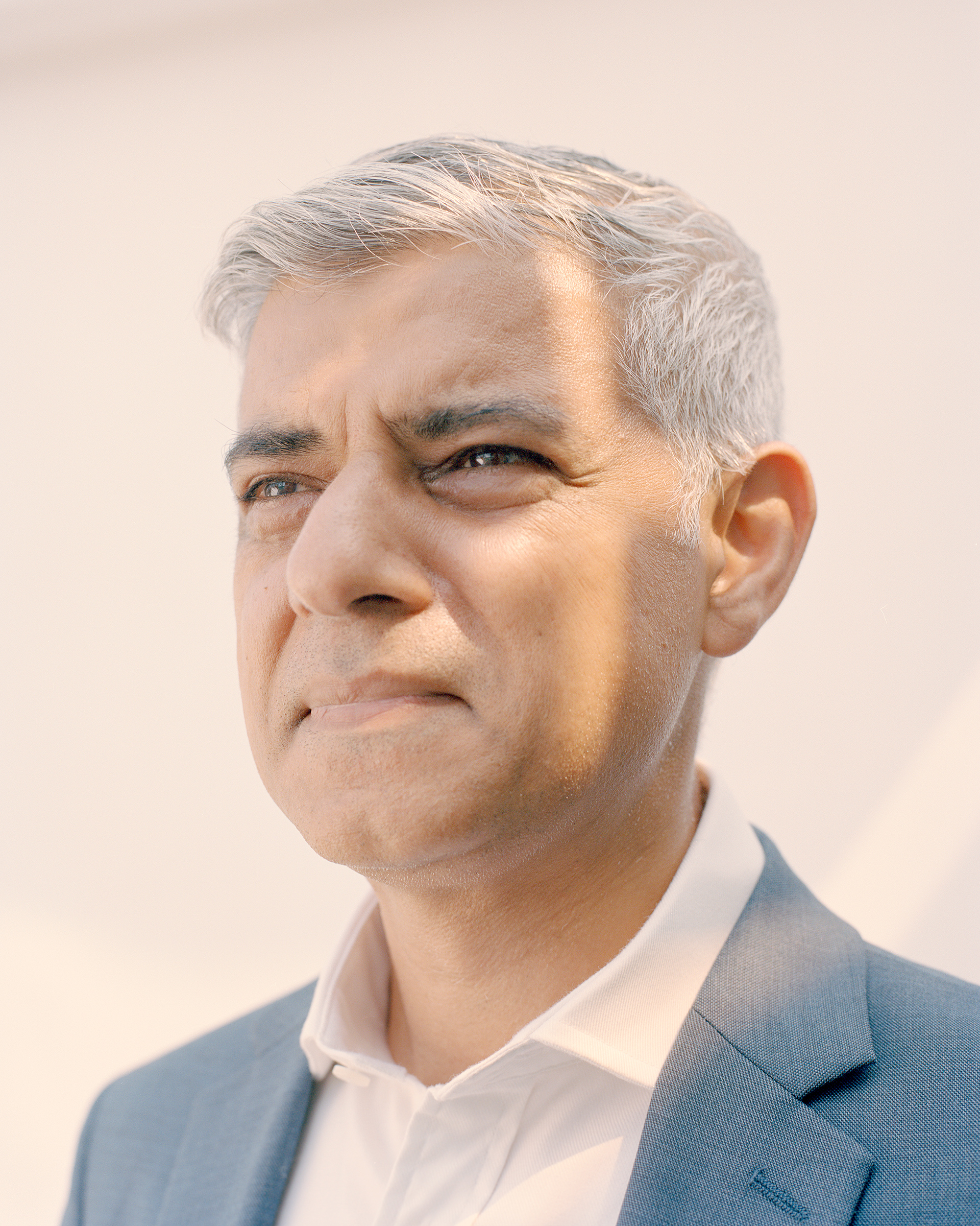 London Mayor Sadiq Khan, photographed at London's City Hall on July 21, 2021.