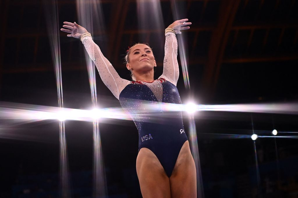 Team USA's Mykayla Skinner competes in the vault event of the artistic gymnastics women's vault final during the Tokyo 2020 Olympic Games at the Ariake Gymnastics Centre in Tokyo on Aug. 1, 2021.
