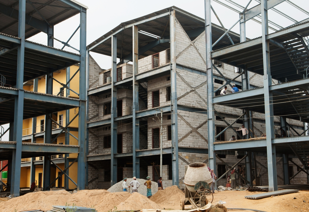 Construction on India's largest detention center in Assam's Goalpara district. The compound, which will include a hospital and separate sections for men and women, will have the capacity to hold 3,000 people when its doors open.