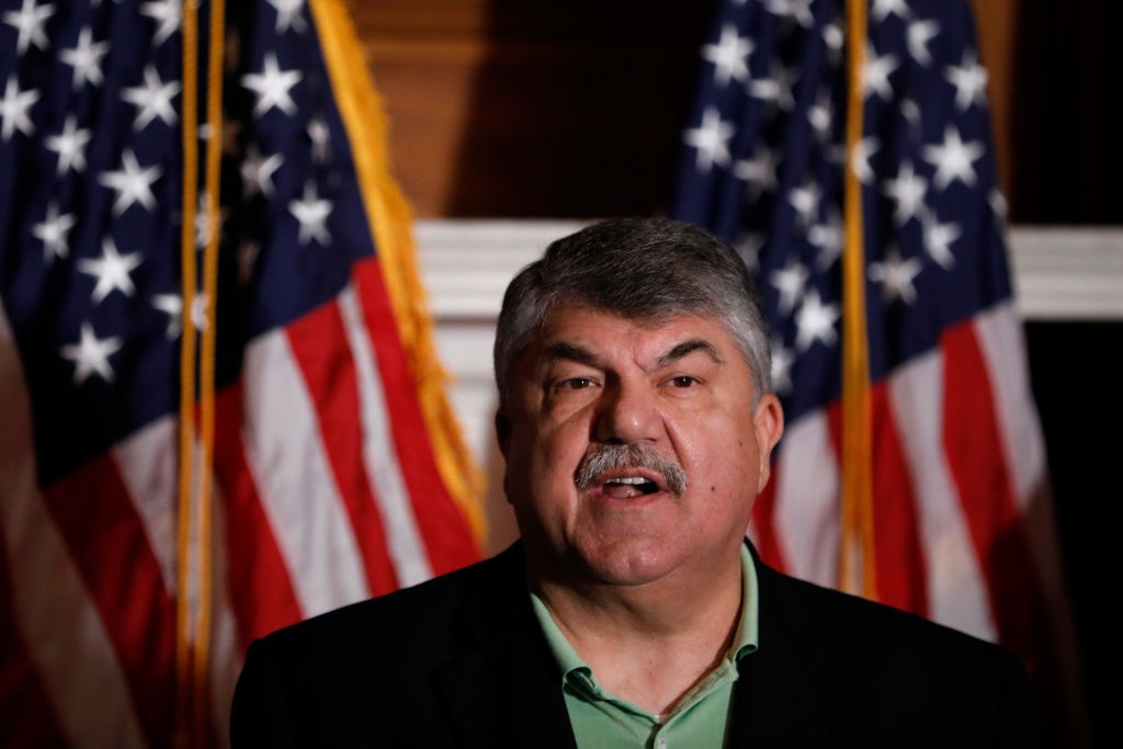 AFL-CIO President Richard Trumka speaks during a news conference at the U.S. Capitol June 28, 2018 in Washington, DC.