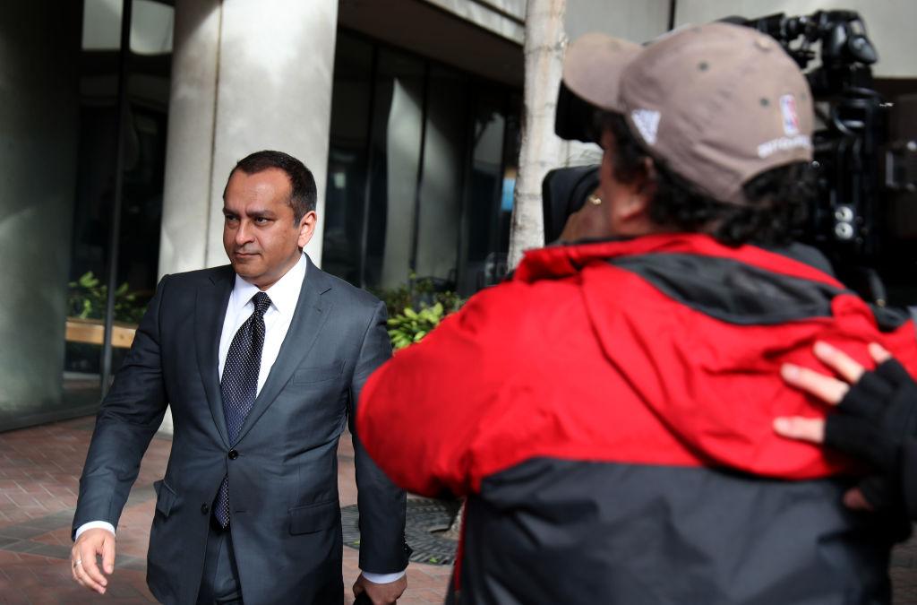 Former Theranos COO Ramesh Balwani leaves the Robert F. Peckham U.S. Federal Court on Jan. 14, 2019 in San Jose, California.
