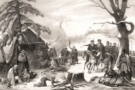 George Washington and Lafayette at Valley Forge, 1777