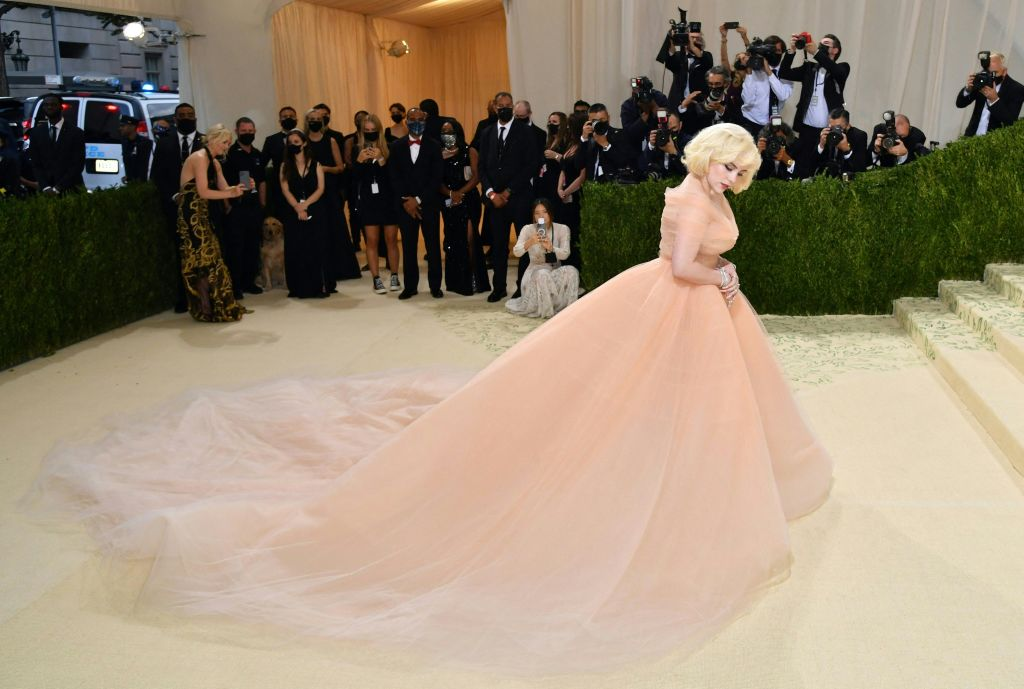 Billie Eilish arrives for the 2021 Met Gala at the Metropolitan Museum of Art on September 13, 2021 in New York.