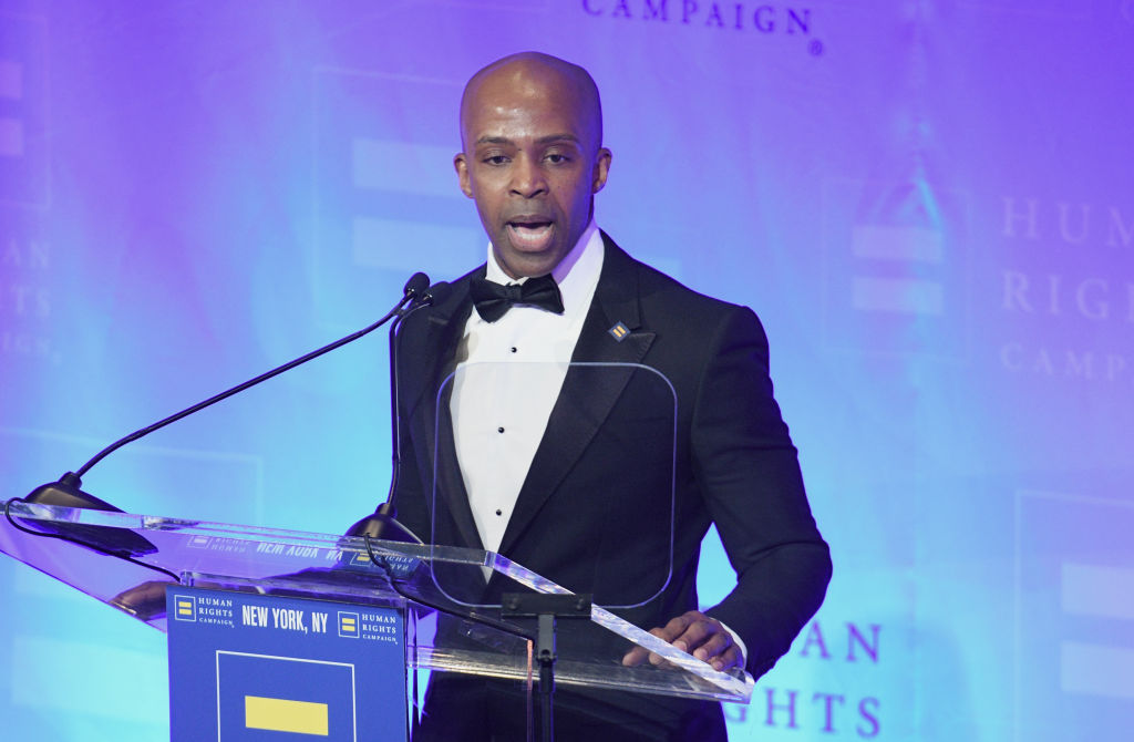 HRC President Alphonso David speaks during the Human Rights Campaign's 19th Annual Greater New York Gala in New York City, New York, on February 01, 2020.