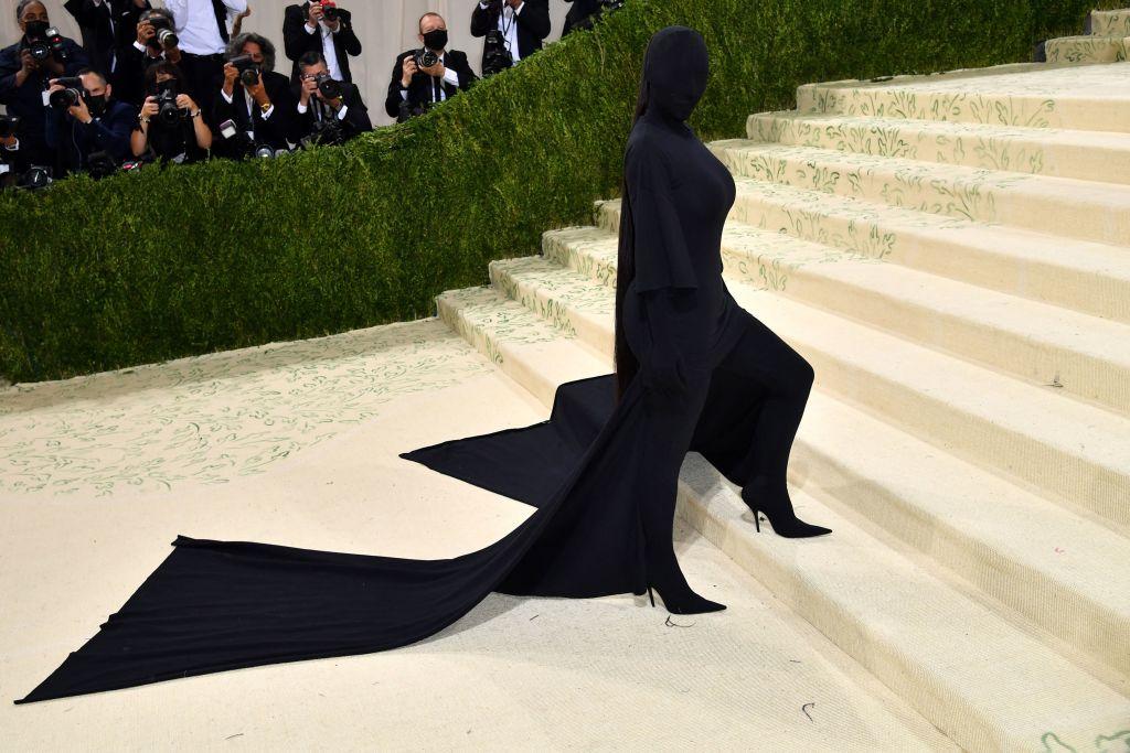 Kim Kardashian arrives for the 2021 Met Gala at the Metropolitan Museum of Art on Sept. 13, 2021 in New York.