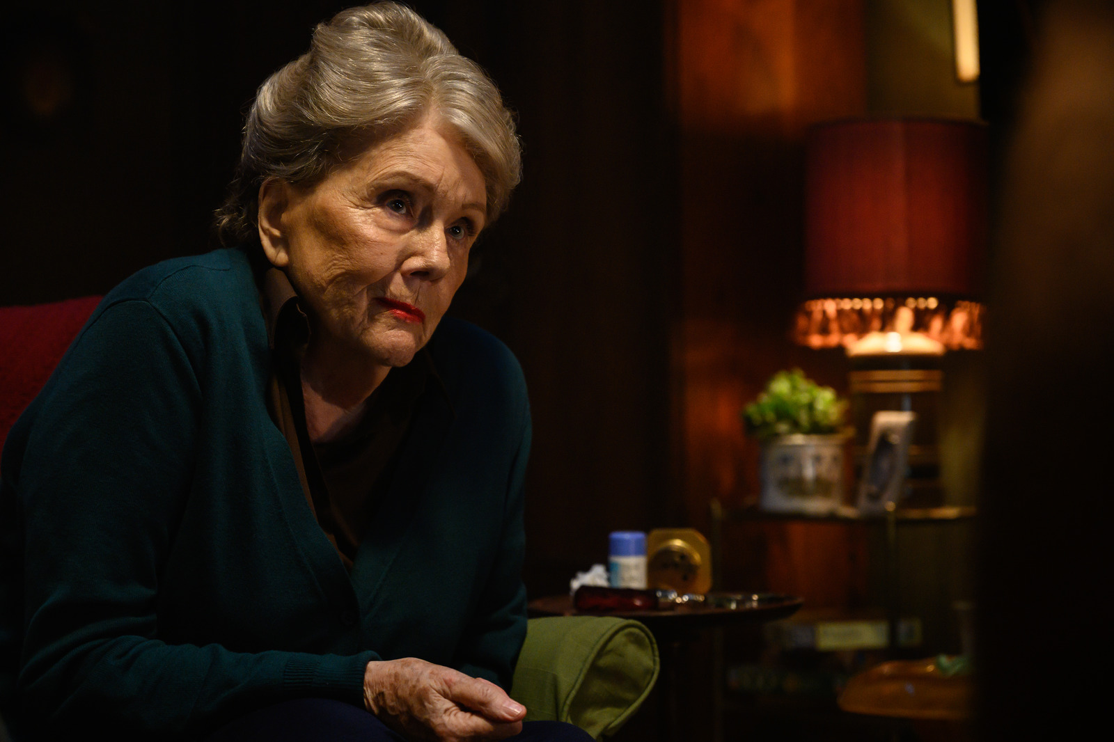 Diana Rigg stars as Ms. Collins in 'Last Night in Soho'