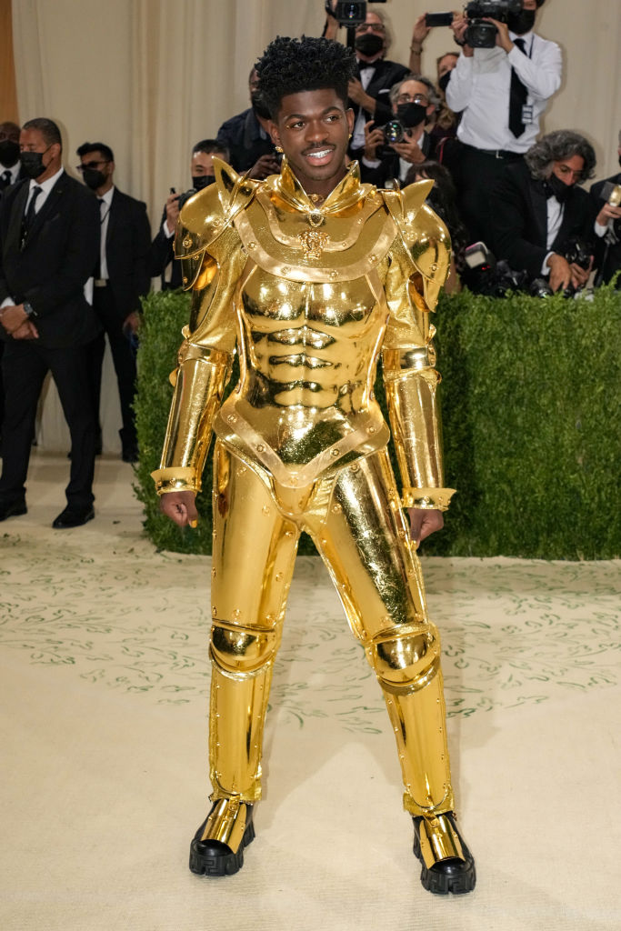 Lil Nas X attends The 2021 Met Gala Celebrating In America: A Lexicon Of Fashion at Metropolitan Museum of Art on Sept. 13, 2021 in New York City.