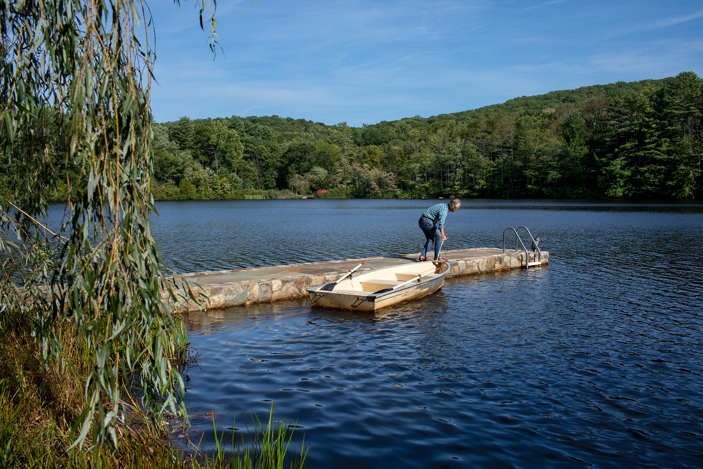 The author's home in Garrison, N.Y., once a gentleman's hunting lodge, came with the lake.