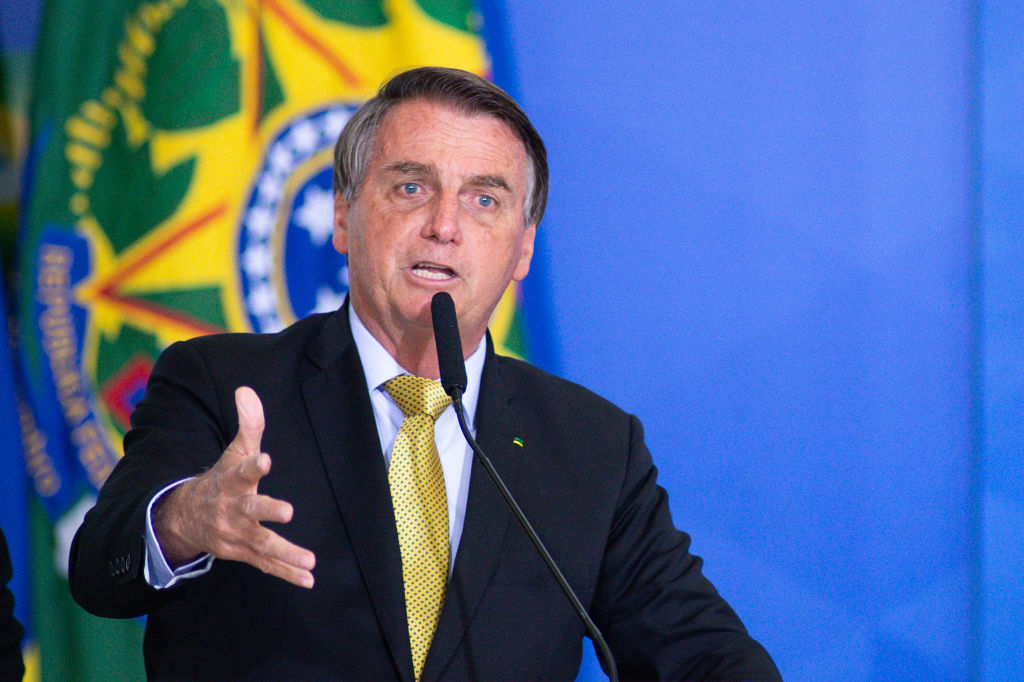 President of Brazil Jair Bolsonaro on June 29, 2021 in Brasilia, Brazil.