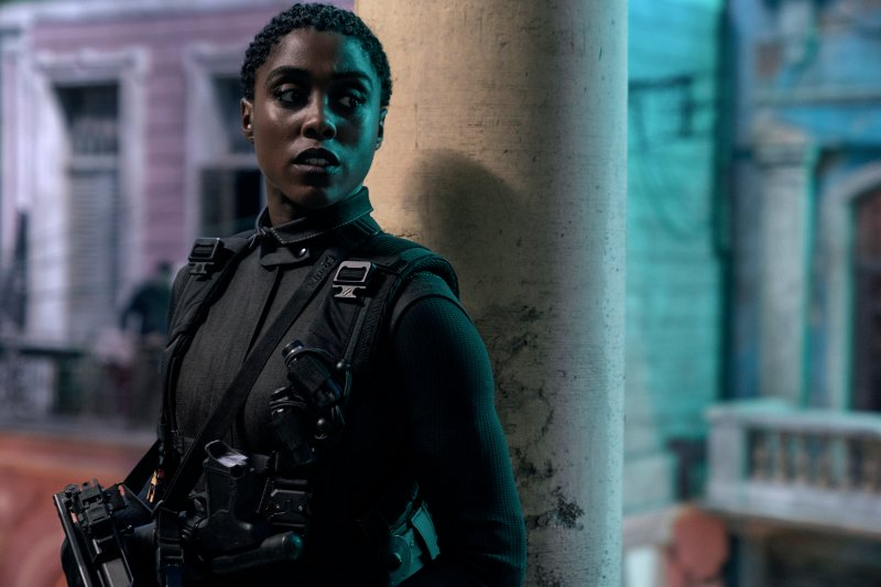 B25_08653_RC2 Nomi (Lashana Lynch) is ready for action in Cuba in 'No Time to Die'