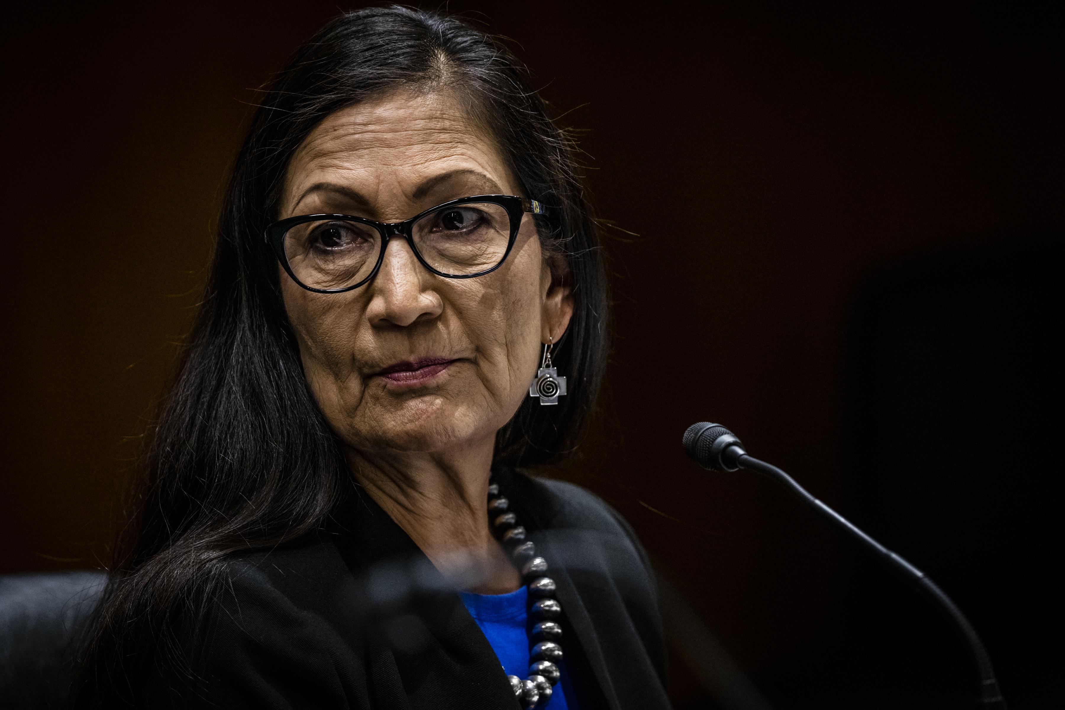 Interior Secretary Deb Haaland testifies during a hearing on June 16, 2021 in Washington, D.C.