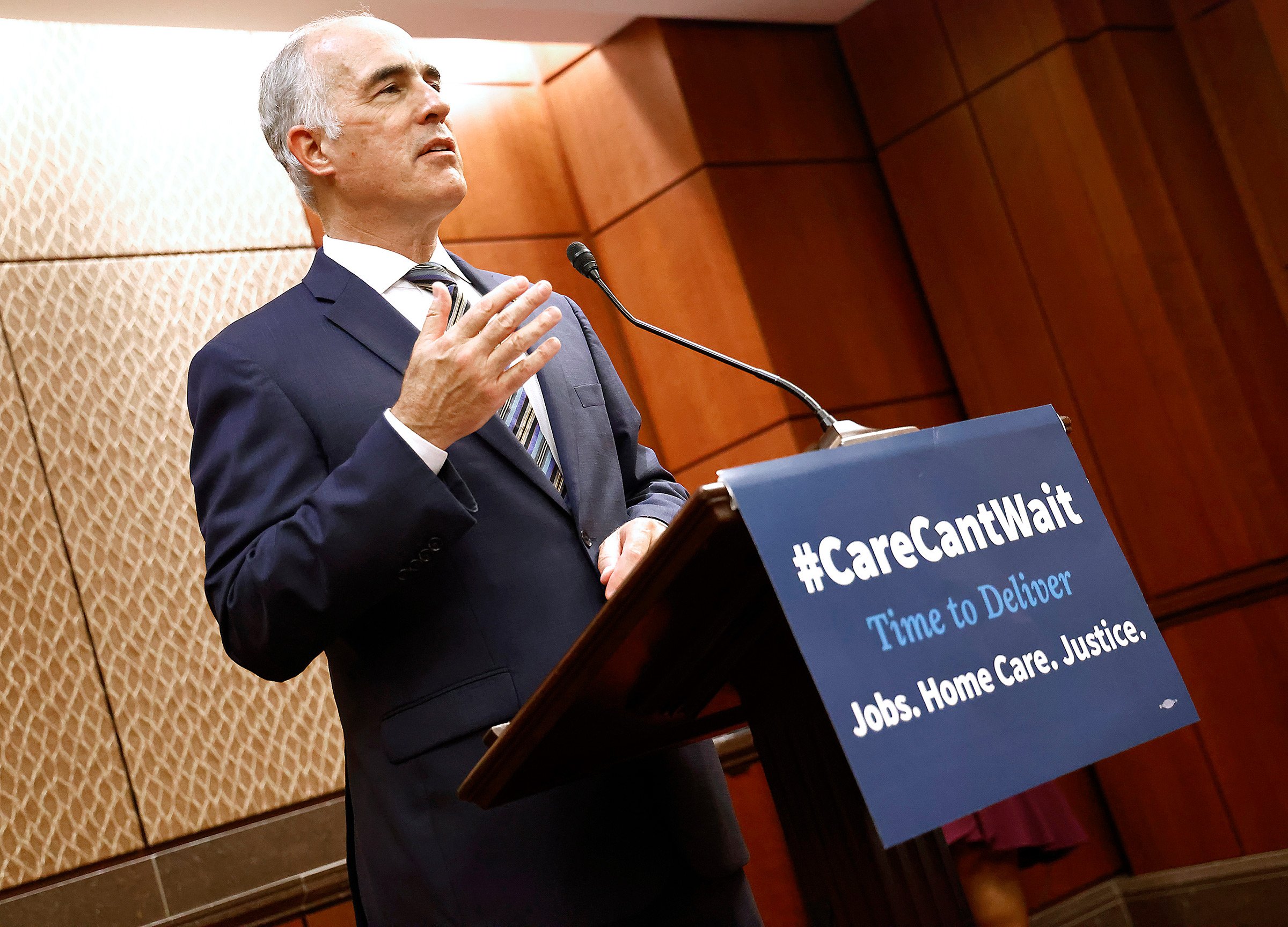 Bob Casey speaks during a rally at the Capitol in Washington, D.C., on Sept. 23, 2021.