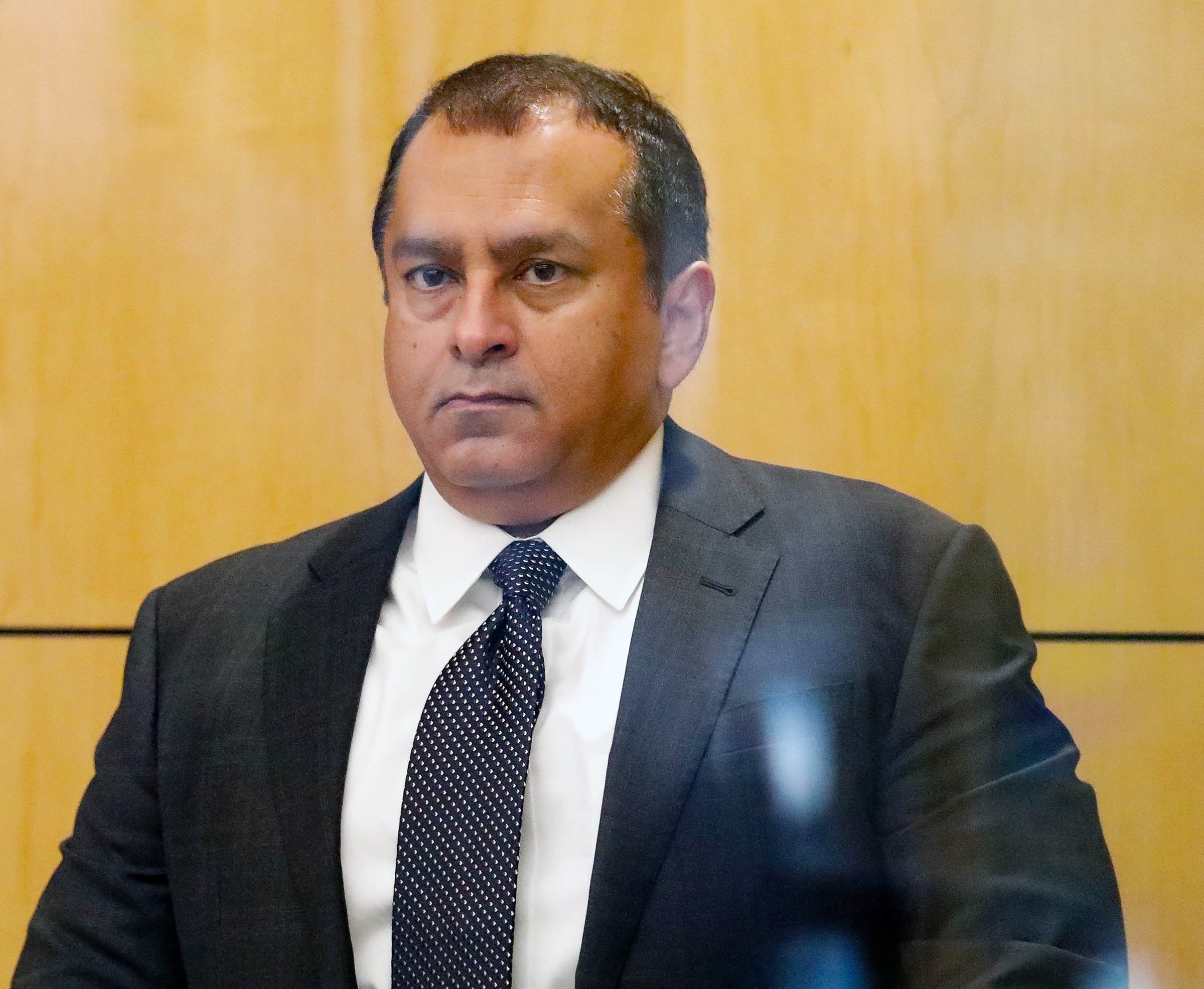 Former Theranos COO Ramesh Balwani appears in federal court for a status hearing on July 17, 2019 in San Jose, California.