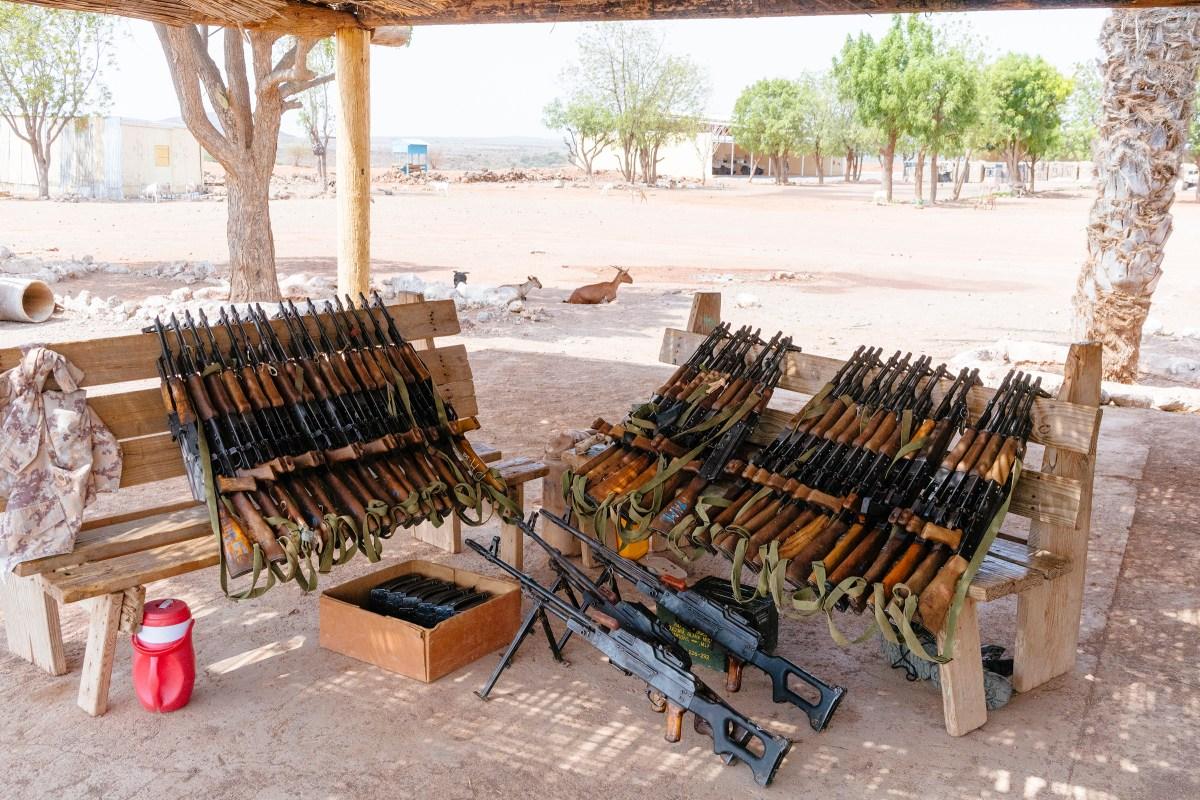 Rifles at a Djiboutian military base.