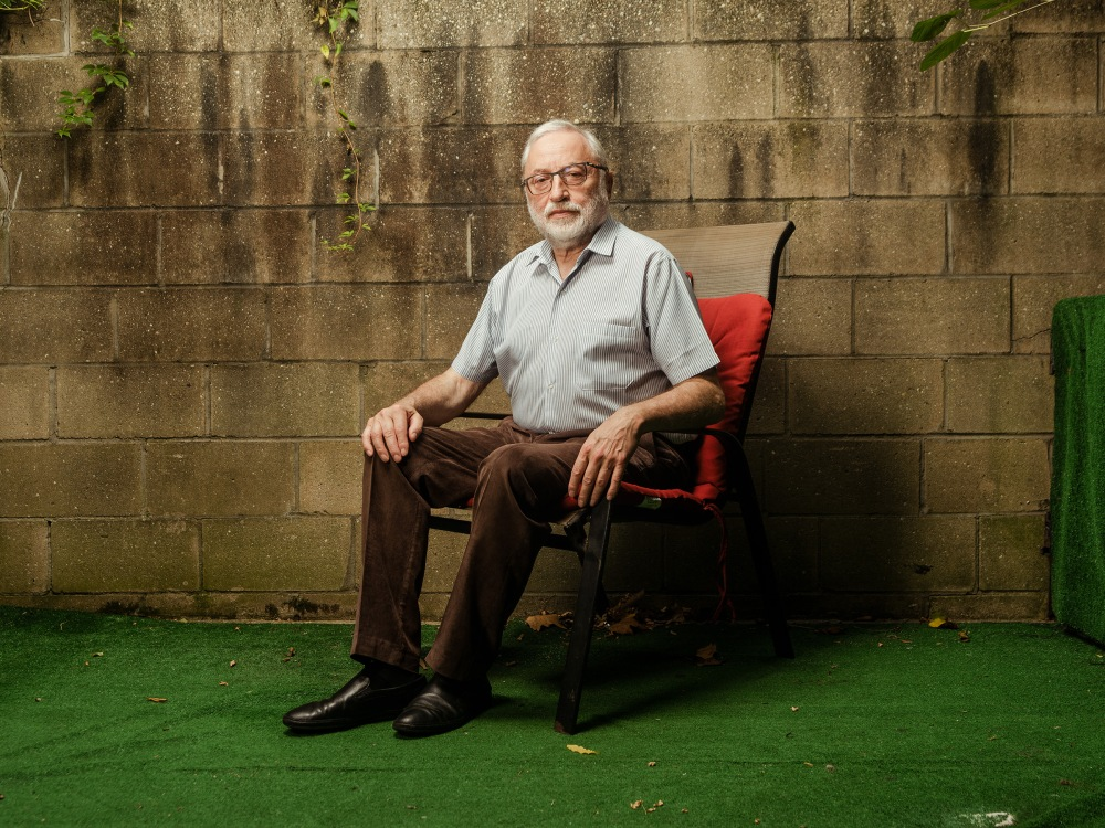 Josef Zissels, a critic of the Babyn Yar memorial project, photographed in Brooklyn on Sept.22