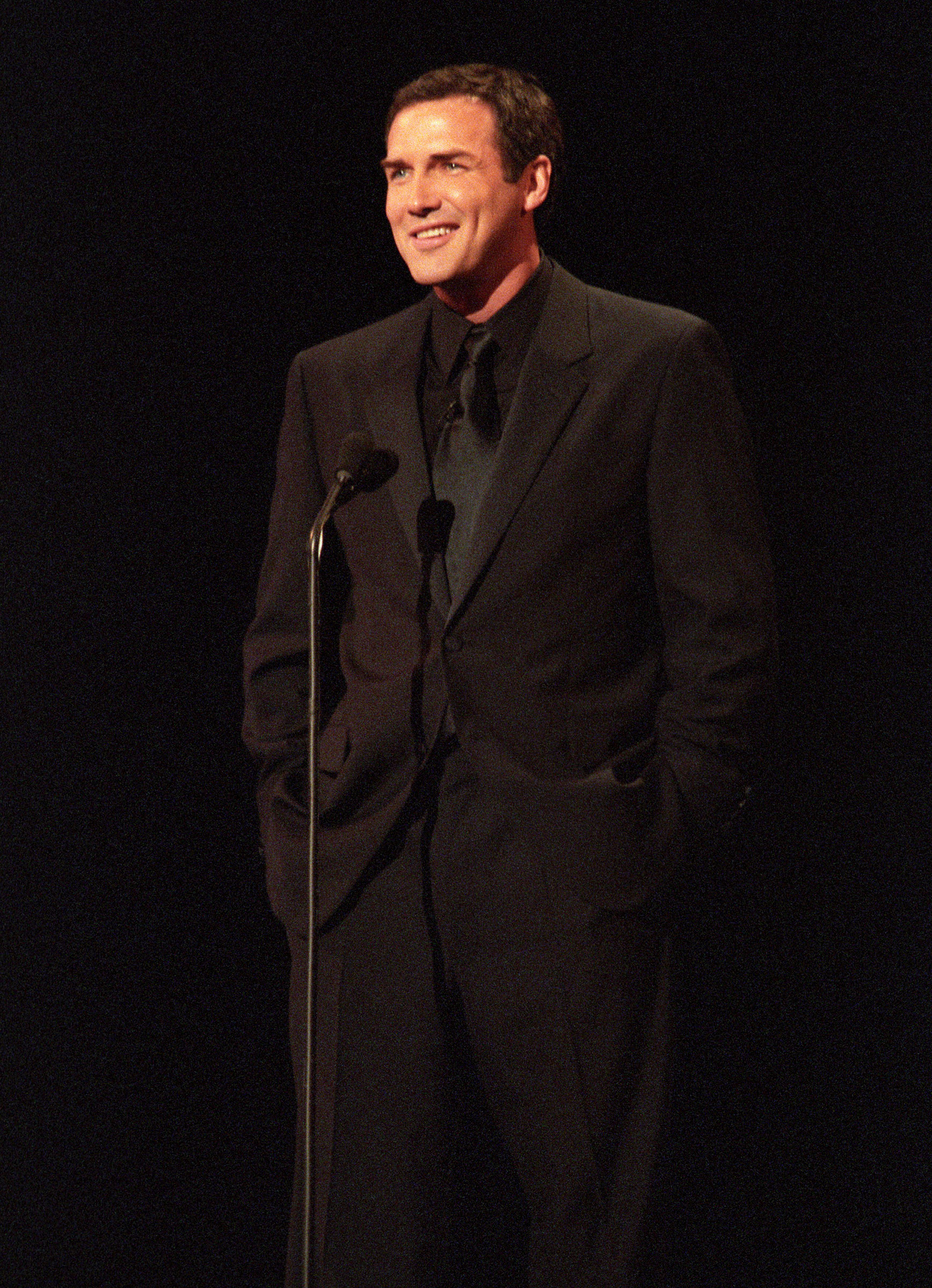 Norm Macdonald hosts the American Music Awards on January 17, 2000.