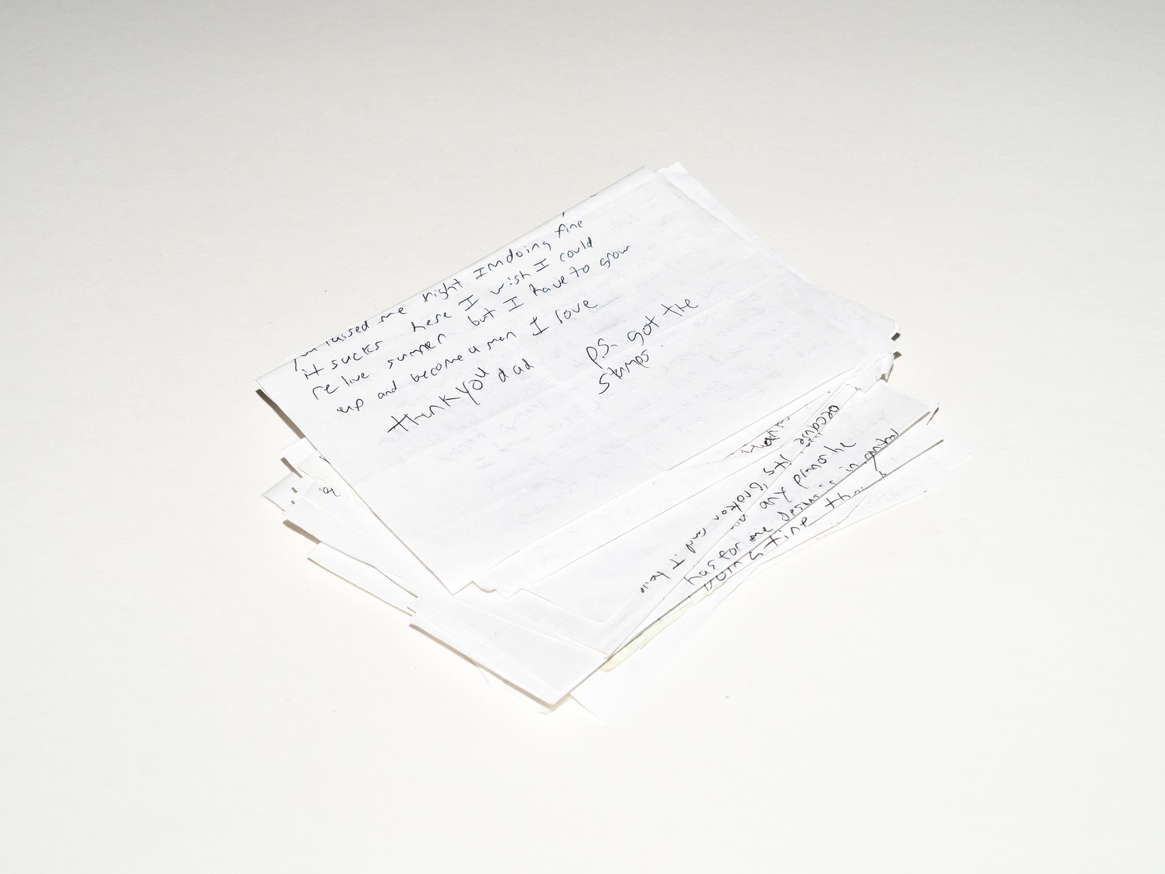 A stack of Jaguar's letters.