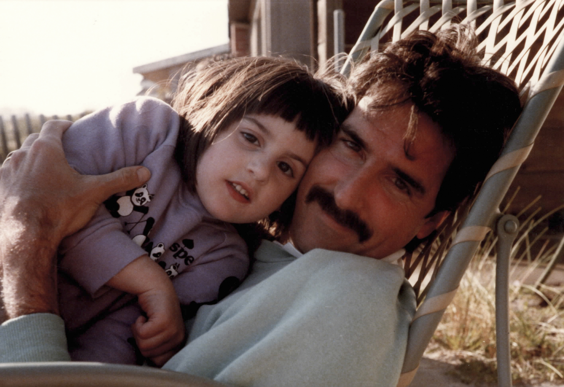 Ry Russo-Young as a child with her donor Tom Steel