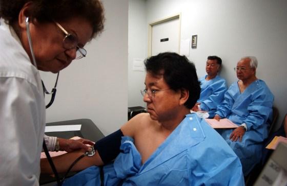 Japanese Physicians Examine Hiroshima-Nagasaki Survivors