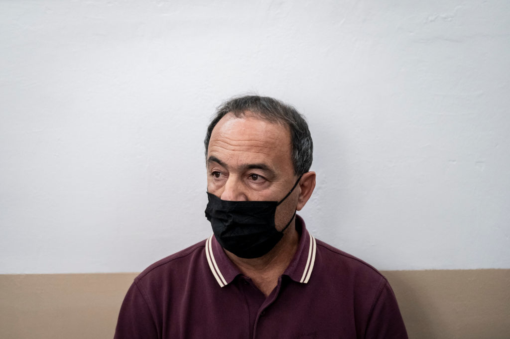 Former mayor of Riace Domenico Lucano after being sentenced to 13 years and two months in jail on charges of favoring illegal immigration and criminal conspiracy