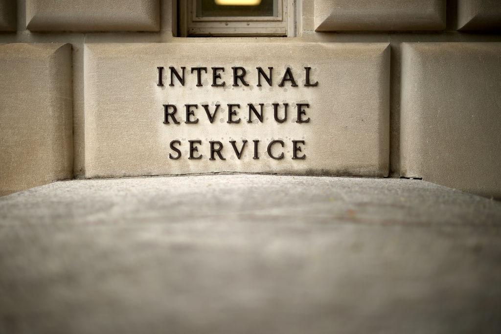 The Internal Revenue Service headquarters building on Aug. 27, 2020, in Washington, D.C.