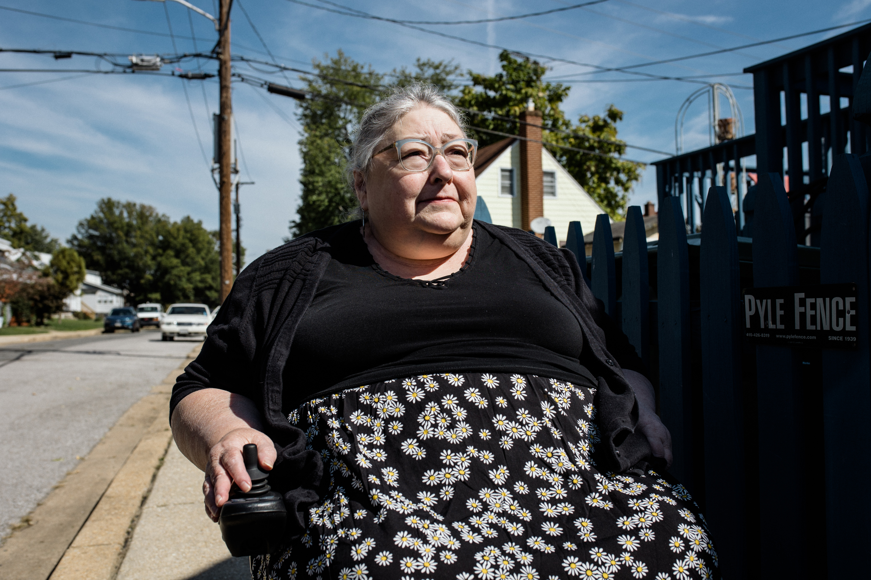 Susan Goodlaxson began using a wheelchair five years ago, following surgery for a brain tumor. On the block where she lives in Baltimore, there isn't a single curb ramp―despite requirements for such accessibility under the Americans with Disabilities Act.