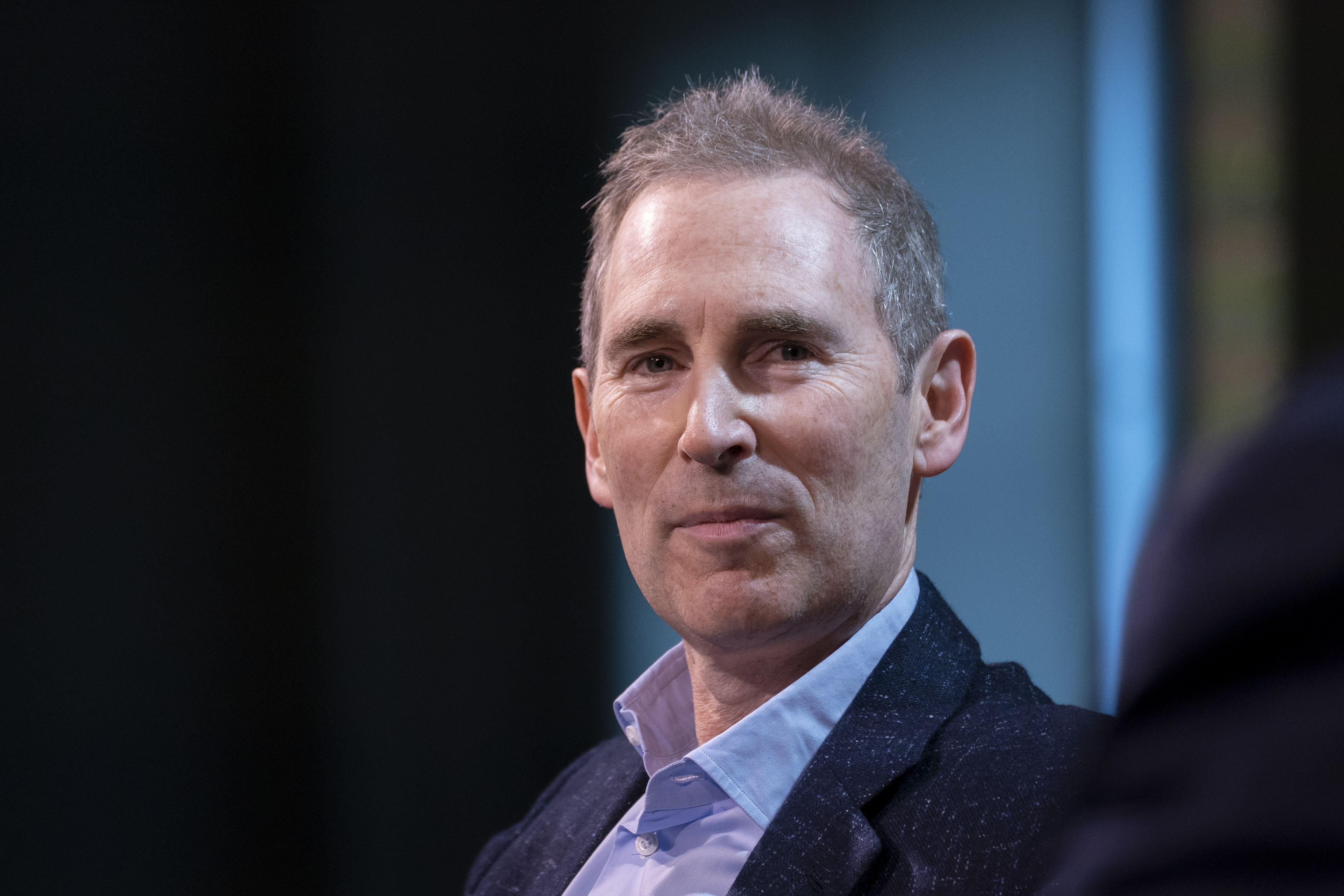 Andy Jassy, chief executive officer of Amazon.Com Inc., during the GeekWire Summit in Seattle, Washington, U.S., on Oct. 5, 2021.