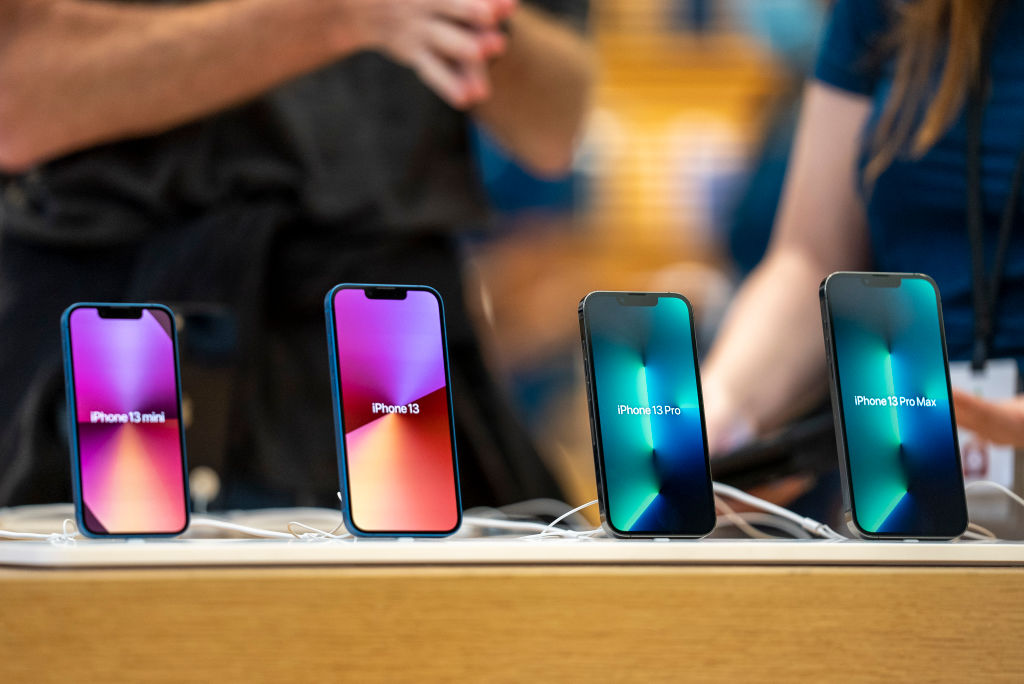 Apple launches the iPhone 13 in the UK at its Regent Street store on September 24, 2021 in London, England.