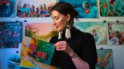 A Native American Painter Brings Indigenous Stories to Life