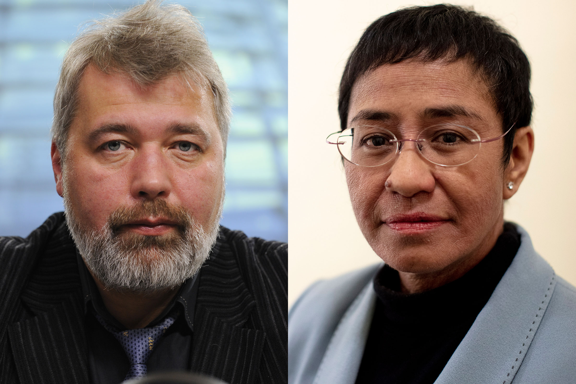 The 2021 Nobel Peace Prize was awarded to journalists Maria Ressa and Dmitry Muratov for the fight for freedom of expression in the Philippines and in Russia.