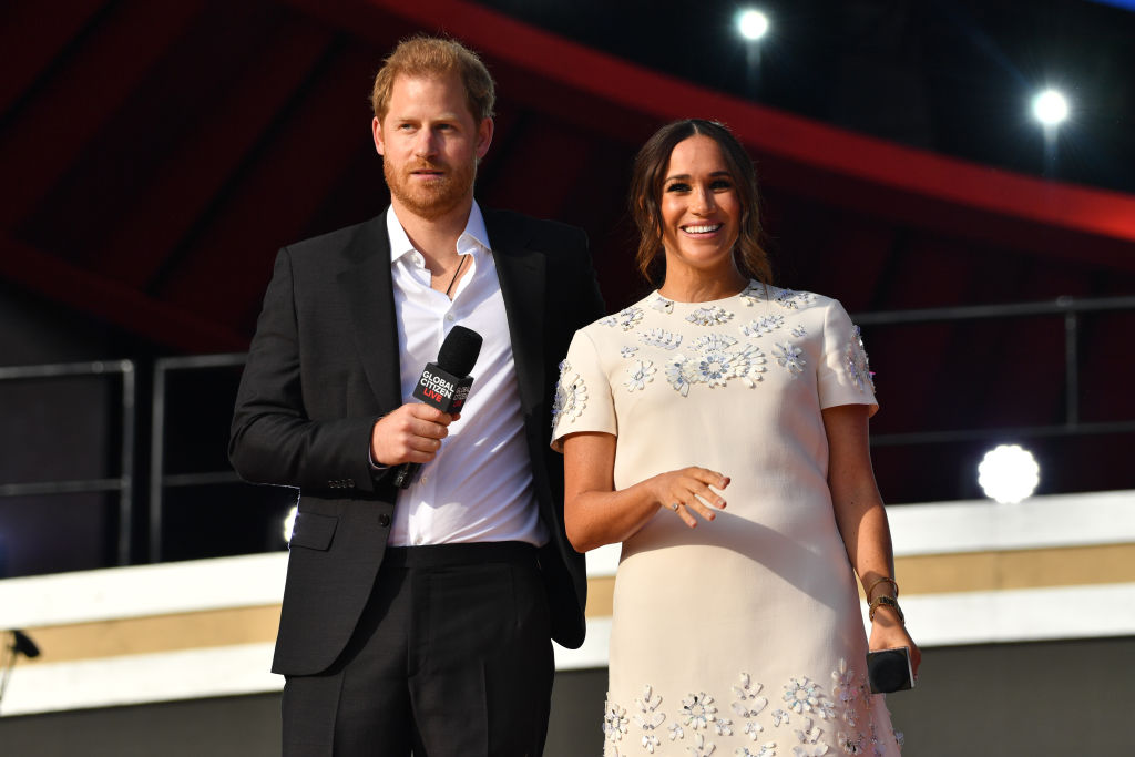 Prince Harry and Meghan Markle at Global Citizen Live on September 25, 2021 in New York City.