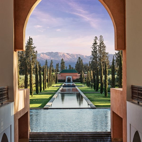 A view of the new hotel Oberoi Marrakech